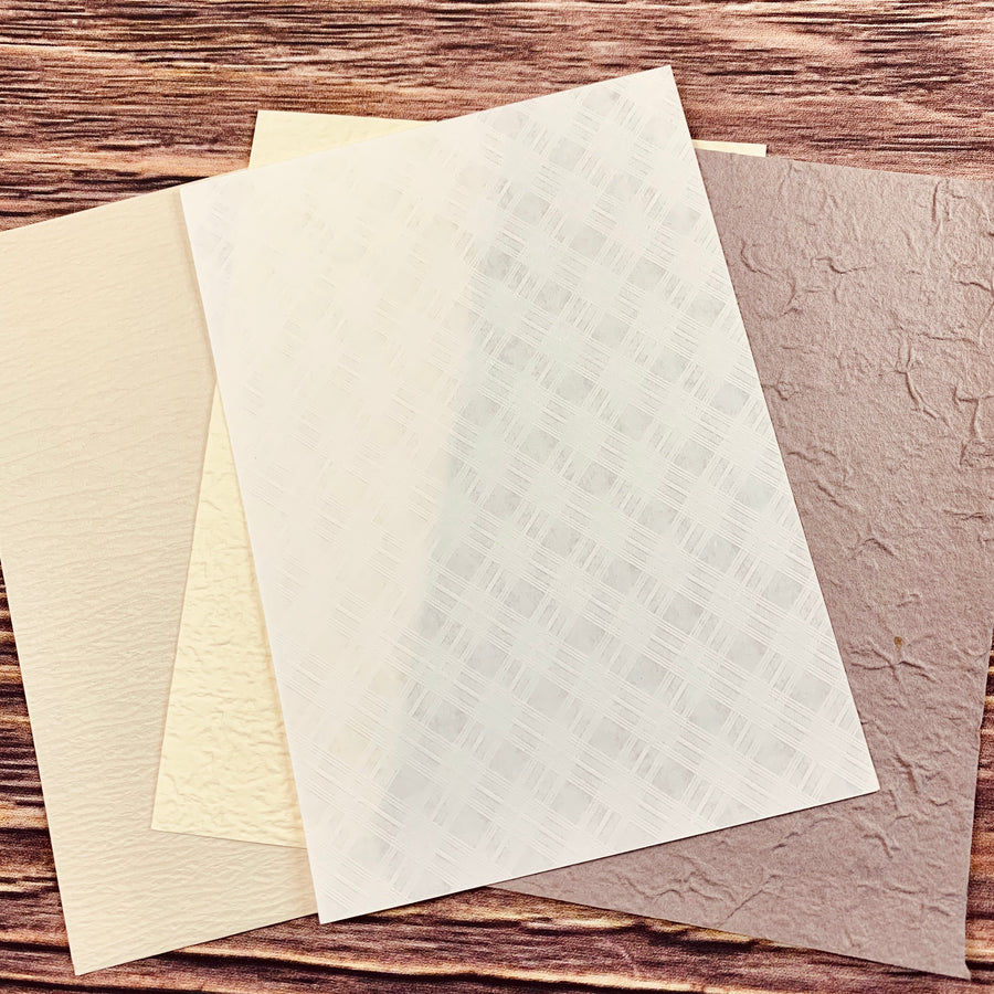 Milk Tea Themed Assorted Textured Paper Collection - shop Stationery & Gifts store online
