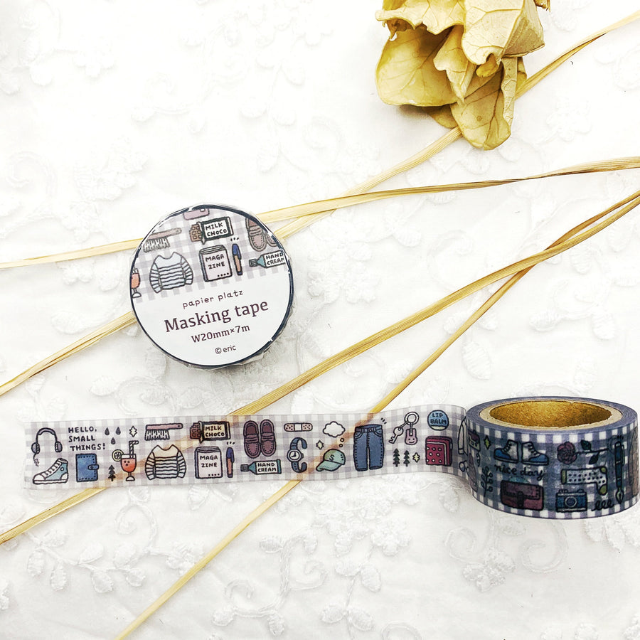 Papier Platz x Eric Small Things Washi Tape Masking Tape - shop Stationery & Gifts store online