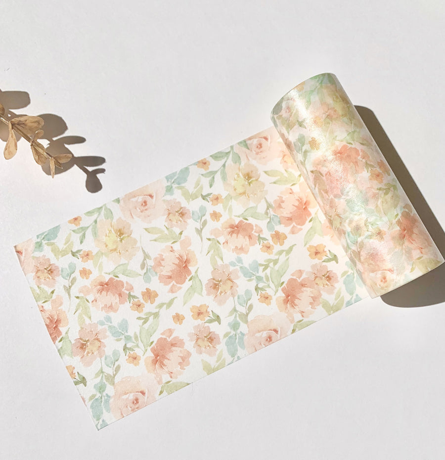Large Watercolor Floral Masking Tape - shop Stationery & Gifts store online