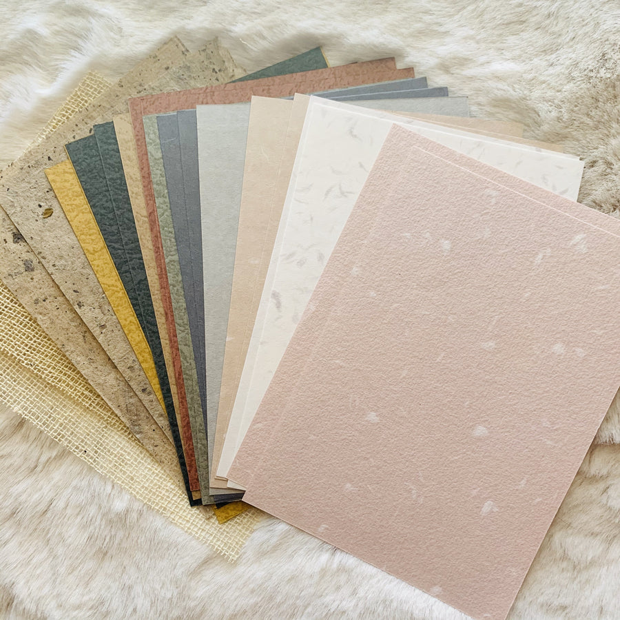 Vintage Dream Assorted Textured Paper Collection - shop Stationery & Gifts store online