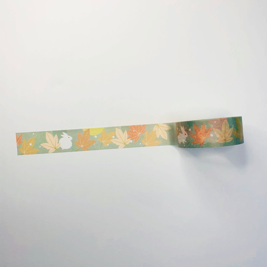 Cute Autumn Bunny Masking Tape - shop Stationery & Gifts store online