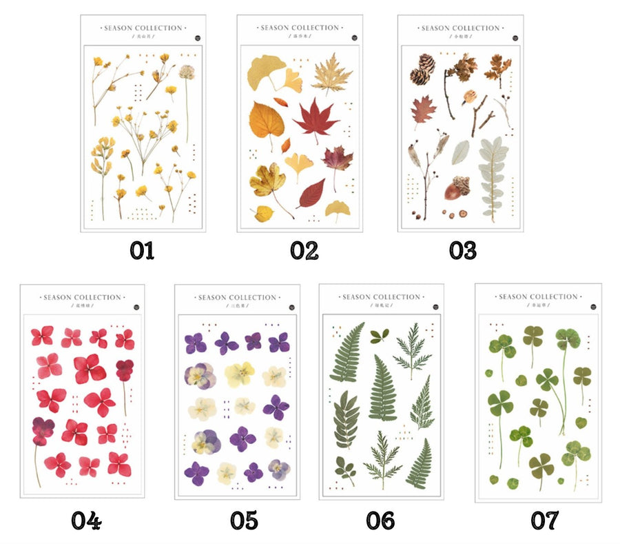 Transparent Flower Stickers Plant Sticker Sheets - shop Stationery & Gifts store online