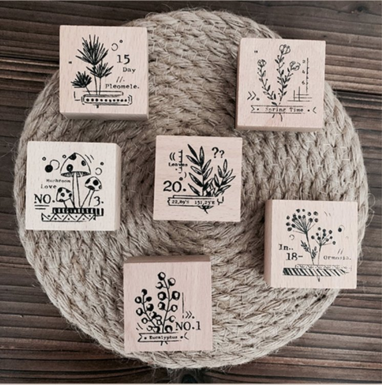 Wild Plant Wooden Stamps - [Studio Collection] - shop Stationery & Gifts store online