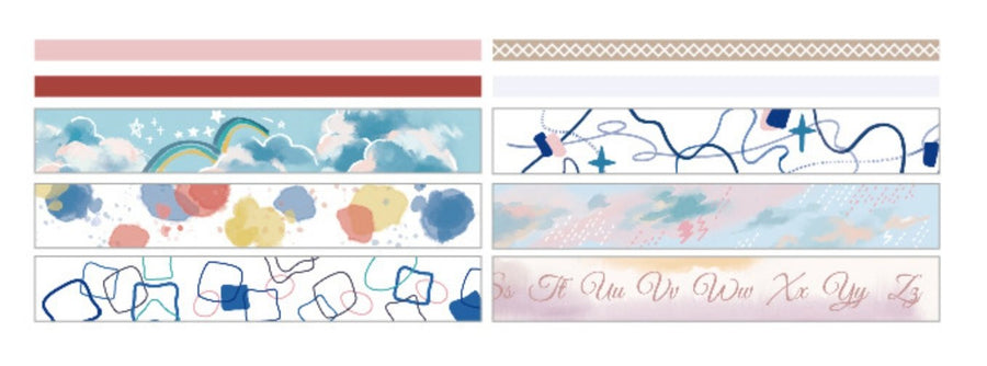 Watercolor Abstract Washi Tape Set - Set of 10 - shop Stationery & Gifts store online