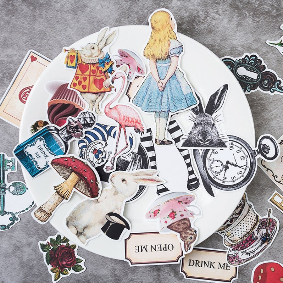 31pcs Alice in Wonderland Sticker Pack - shop Stationery & Gifts store online