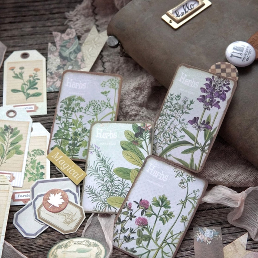 46pcs Large Vintage Plant Ephemera Junk Journal Sticker Pack - shop Stationery & Gifts store online
