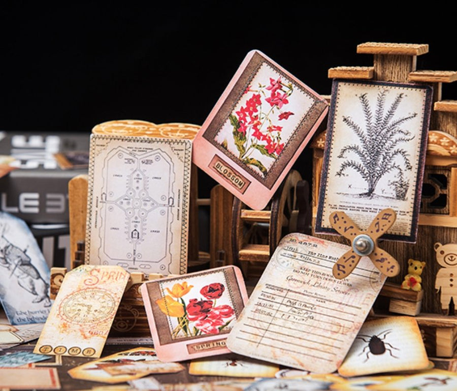 113pcs Mega Vintage Adventure Junk Journal Collection (Non-Adhesive) - shop Stationery & Gifts store online