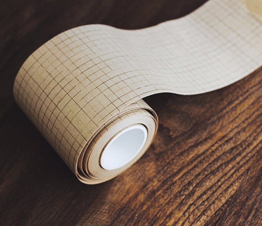 Large 7CM Wide Grid Kraft Paper Tape - shop Stationery & Gifts store online