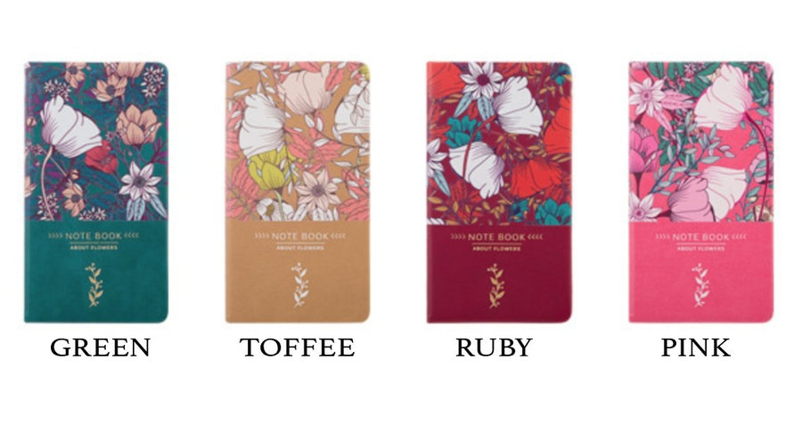 About Flowers Gold Foil Notebook Pocket Notebook - shop Stationery & Gifts store online