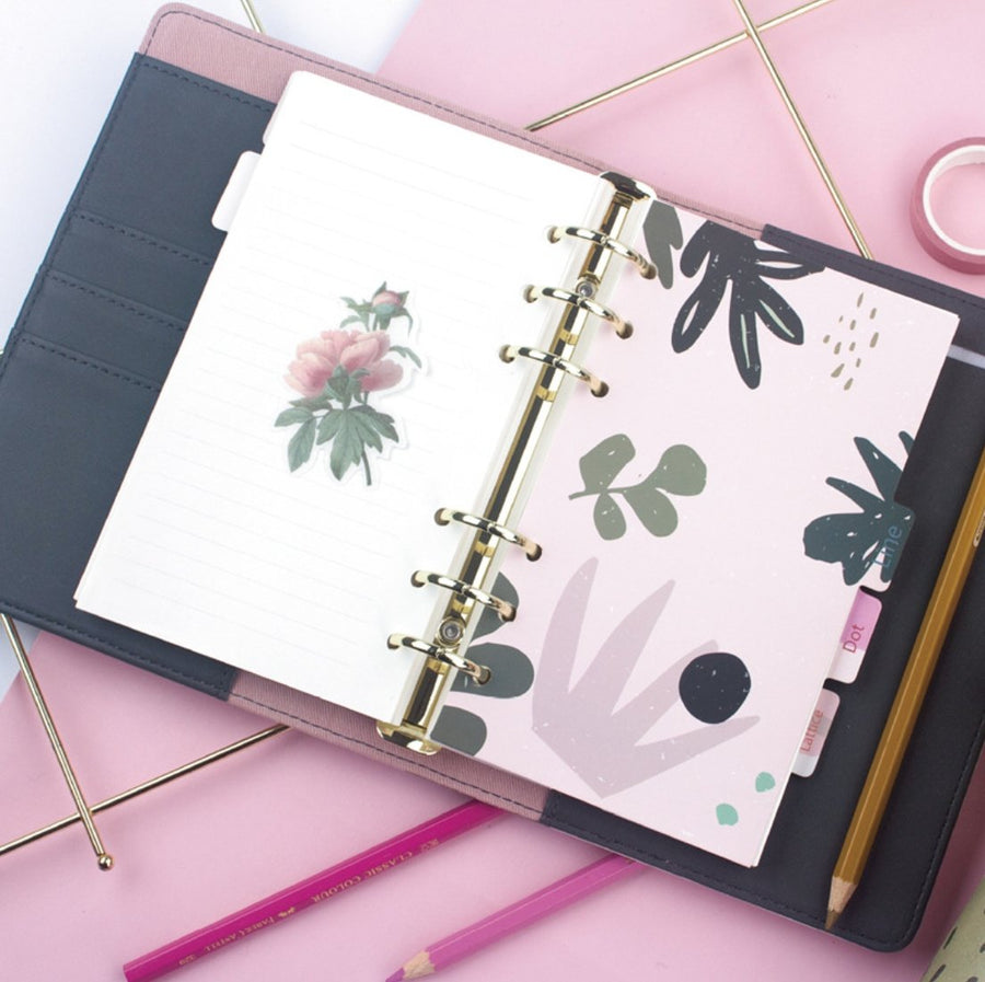 Tropical Garden Daily Monthly Planner | Loose Leaf Notebook Journal - shop Stationery & Gifts store online
