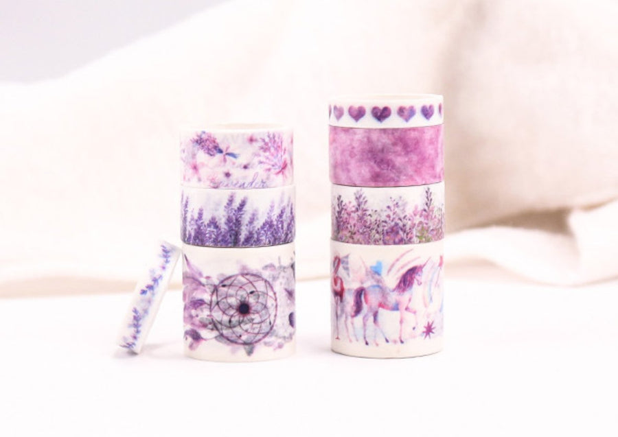 Purple Dreams Washi Tape Set 8 Per Set | Dream Catcher Flamingo Tape - shop Stationery & Gifts store online