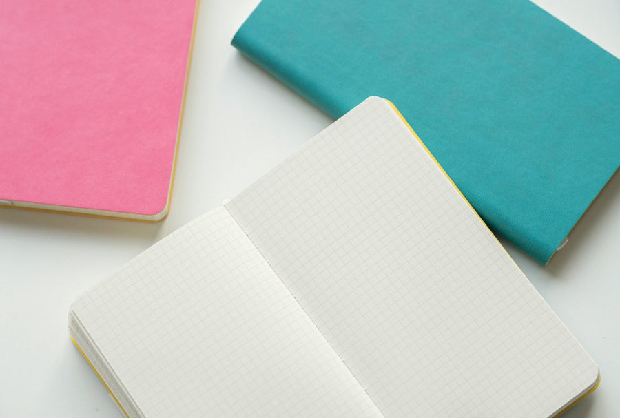 Minimalist Softcover Squared Pocket Journal Notebook - shop Stationery & Gifts store online