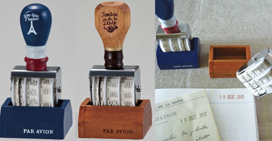 Two-Piece Vintage Date Stamp - shop Stationery & Gifts store online