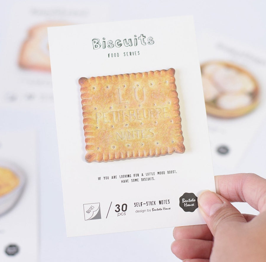 Bread Noodles Dumplings Crackers Sticky Notes | Notepads - shop Stationery & Gifts store online