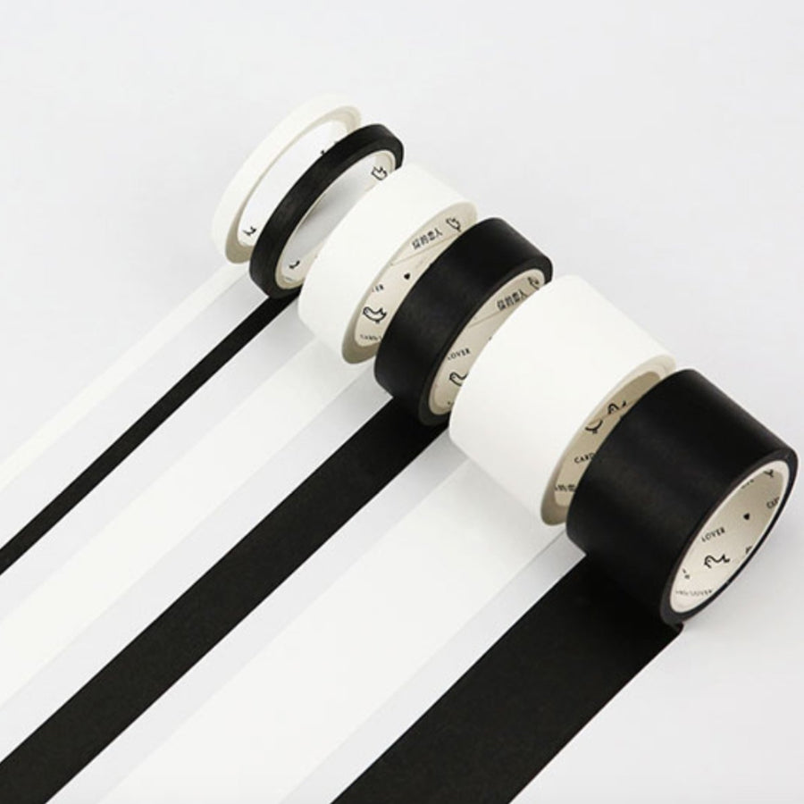 Black & White Minimalism Masking Tape - shop Stationery & Gifts store online