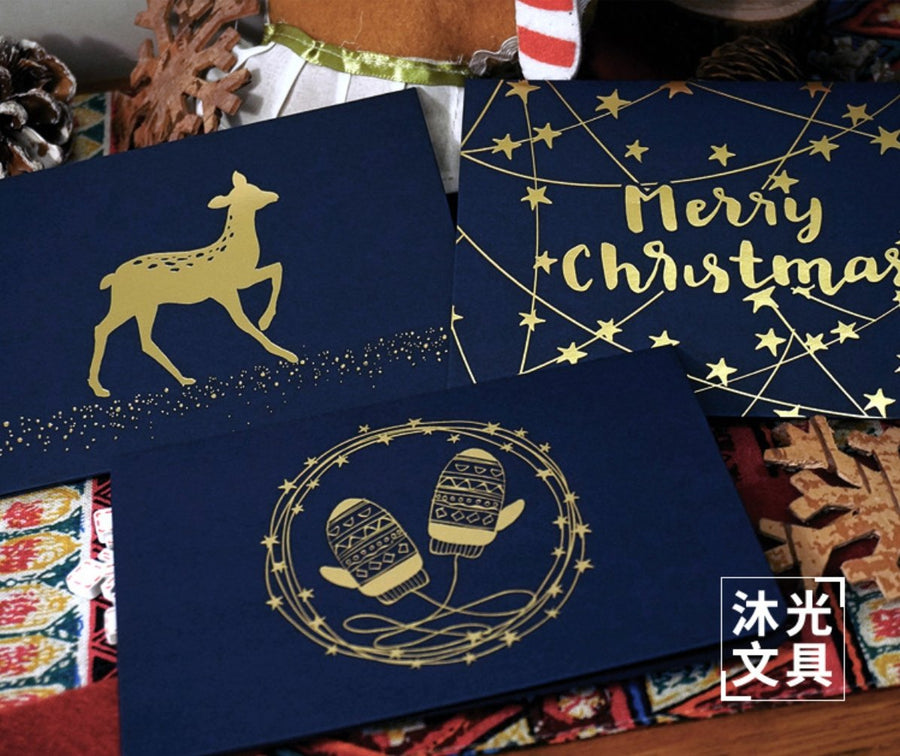 Gold Foil Christmas Card - shop Stationery & Gifts store online