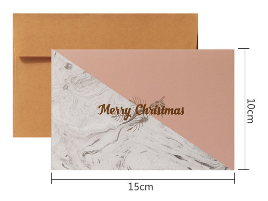 Marble Colorblock Christmas Card - shop Stationery & Gifts store online