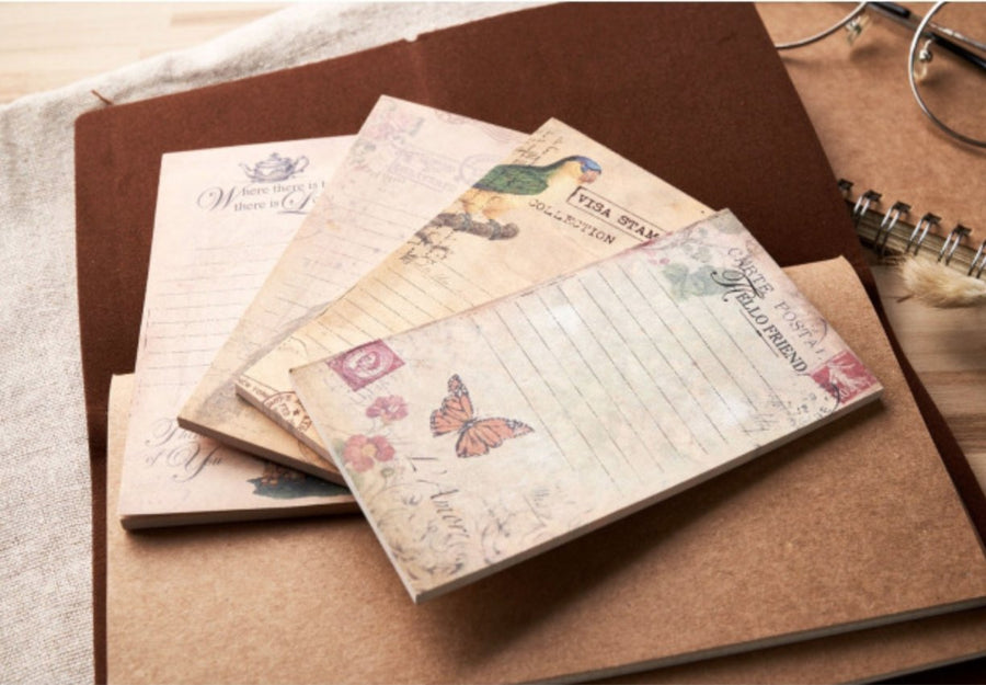 Nature Theme Vintage Notepads (Non-sticky) - shop Stationery & Gifts store online