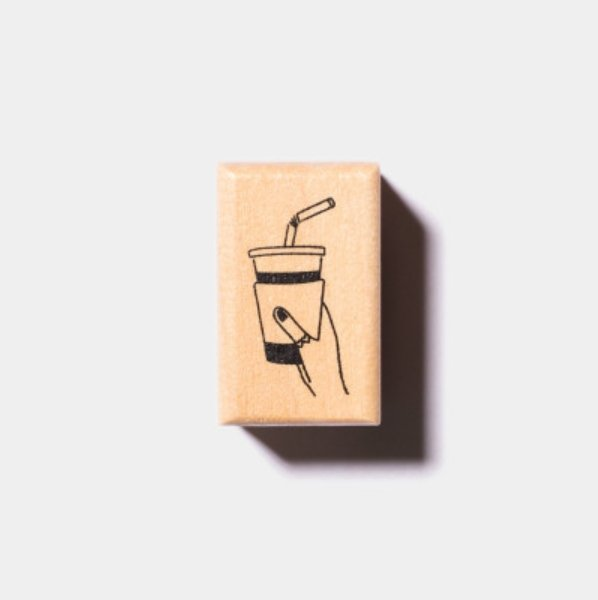 Coffee/Bubble Tea On The Go Stamp - Independent Artist Original Series - shop Stationery & Gifts store online