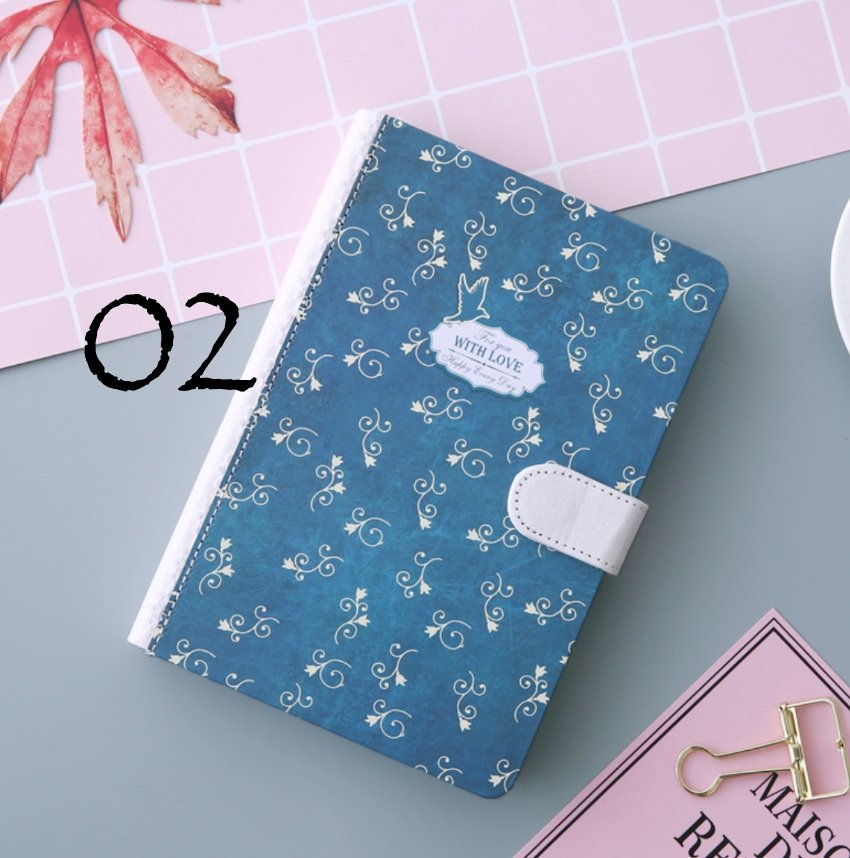 Beautiful Floral Lined Notebook With Magnetic Closure - shop Stationery & Gifts store online
