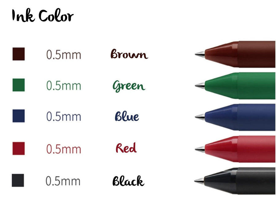 Multicolor Retractable Gel Ink Pen - shop Stationery & Gifts store online