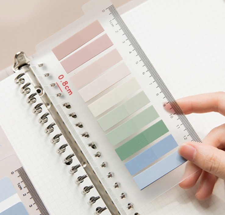 Pastel Gradient Color Thin Sticky Notes Ruler - shop Stationery & Gifts store online