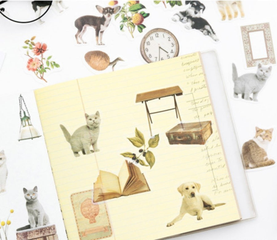 Translucent Cute Puppy Dog Stickers 36PCS - shop Stationery & Gifts store online