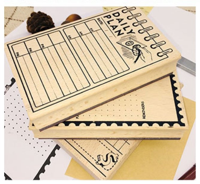 Daily Plan Large Wooden Stamp Rubber Stamp - shop Stationery & Gifts store online