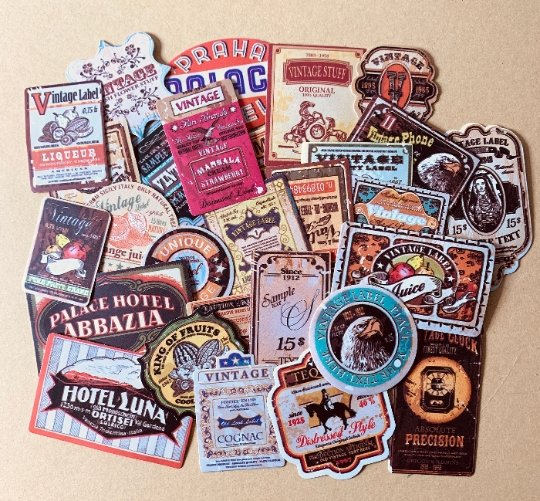 Retro Vintage World Travel Stickers 28pcs - shop Stationery & Gifts store online