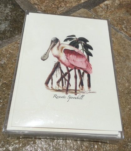 Roseate Spoonbill in Mangroves Premium Boxed Card Set