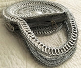 Recycled Circular Hand Bag - Silver - Artisan Handcrafted