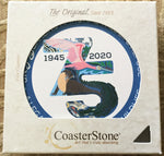 Absorbent Stone Coaster Set - 75th Anniversary Logo - Set of 4