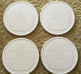 Absorbent Stone Coaster Set - Sand Dollar - Set of 4
