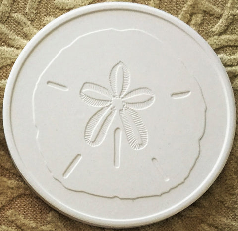 Absorbent Coaster Set - Sand Dollar - Set of 4
