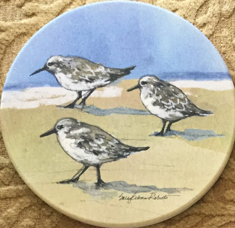 Absorbent Coaster Set - Sandpipers - Set of 4
