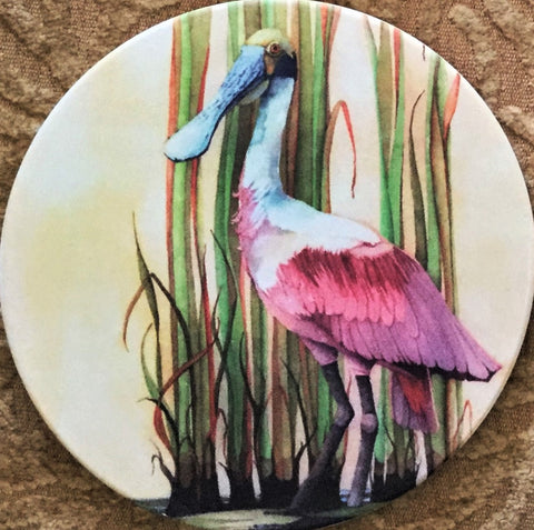 Absorbent Coaster Set - Roseate Spoonbill - Set of 4