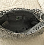 Recycled Danubia Shoulder Bag - Silver - Artisan Handcrafted