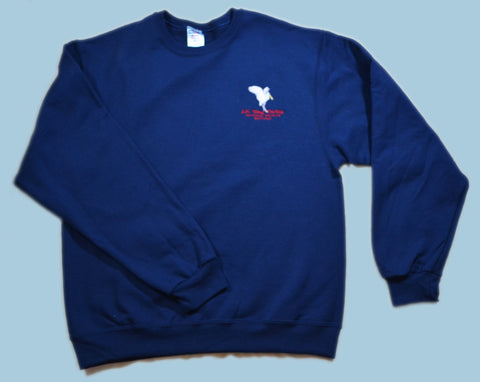 Spoonbill Embroidered Pullover Sweatshirt - Navy Blue