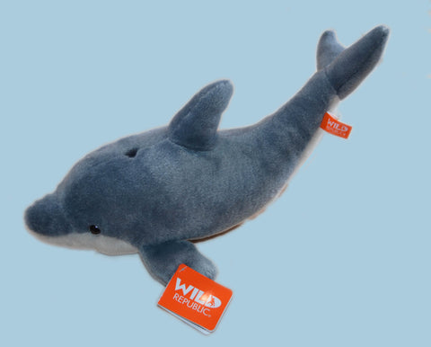 Dolphin Mini Stuffed Animal 10""