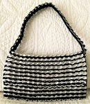 Recycled Francisca Handbag - Black or Silver - Artisan Handcrafted