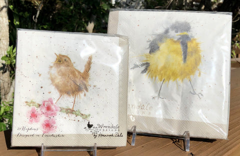 Whimsical Wildlife Paper Napkins - Garden Birds - Two Sizes
