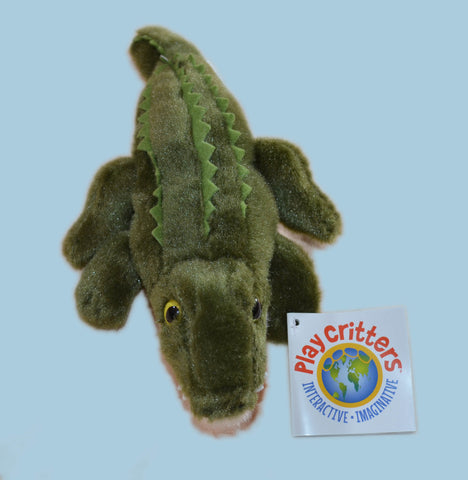 Alligator Stuffed Animal & Finger Puppet 9""