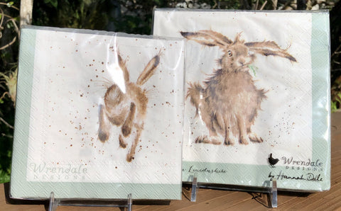 Whimsical Wildlife Paper Napkins - Hare-Brained - Two Sizes