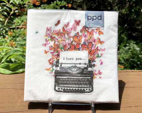 Beverage Napkins - I Love You