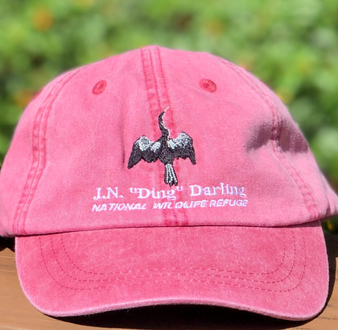 Red Anhinga Adjustable Baseball Hat