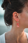 Mother of Pearl Drop Earring - Coral