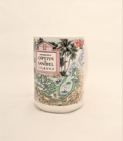 Sanibel-Captiva Historical Map Mug - Made in the USA
