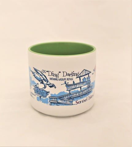 Ed Anderson Mug Original Wrap-Around Art - Green Interior