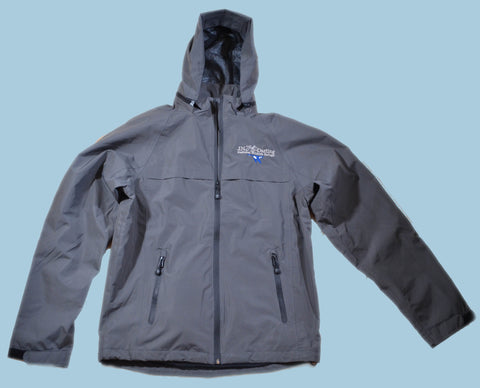 Charcoal Blue Goose Logo Rain Jacket