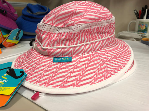 Kids Hat Fun Bucket - Pink Electric Stripe - Sunday Afternoons